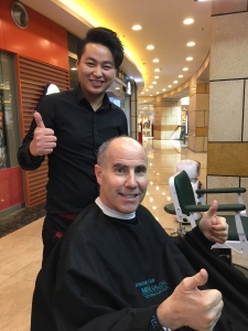 Getting my hair cut in China!