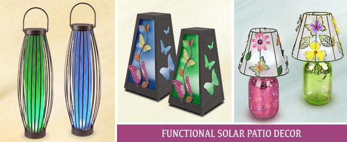 Functional Solar Patio Decor